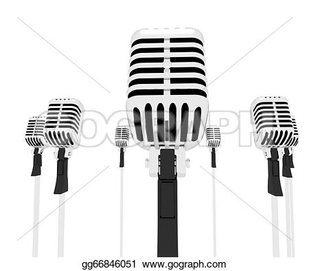 Microphone clipart singing group Music group singing group Illustrations
