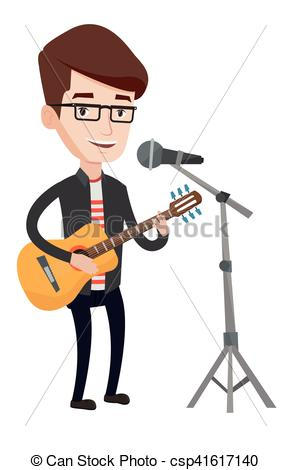 Microphone clipart solo singer Guitar microphone of guitar singing