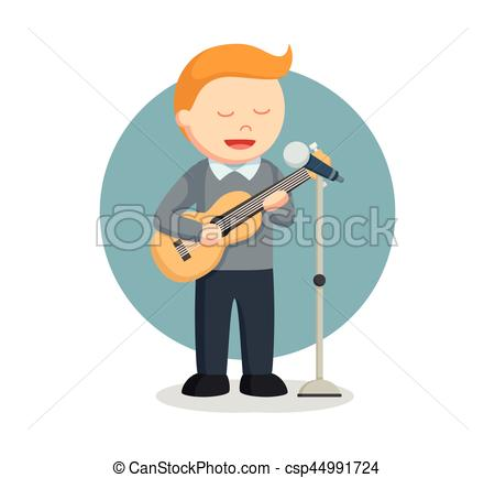 Microphone clipart solo singer Man singer Vector with Illustration