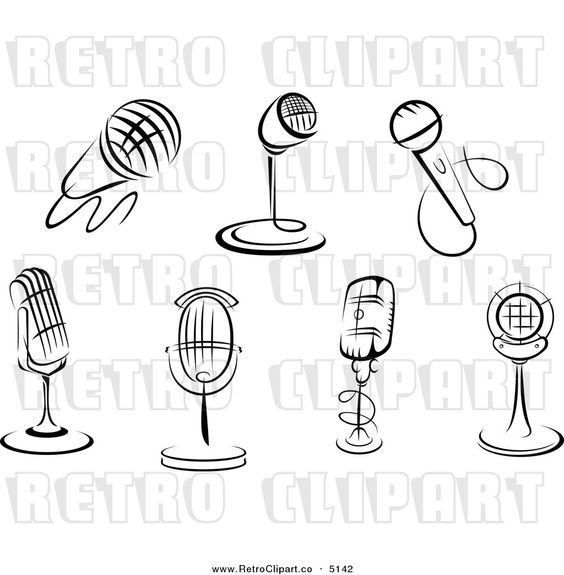 Microphone clipart source information #5