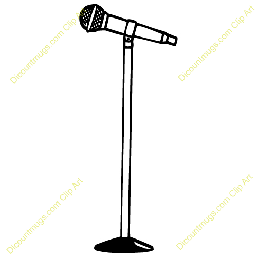 Microphone clipart source information #7
