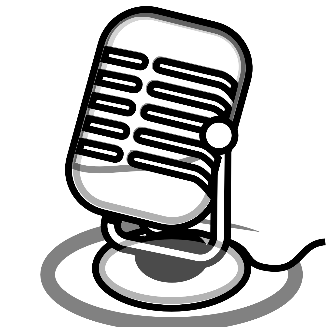 Microphone clipart source information #3