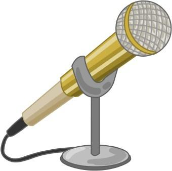 Microphone clipart talent show #12