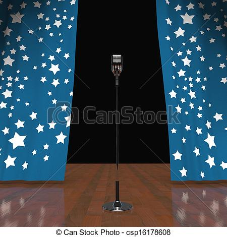 Microphone clipart talent show #5