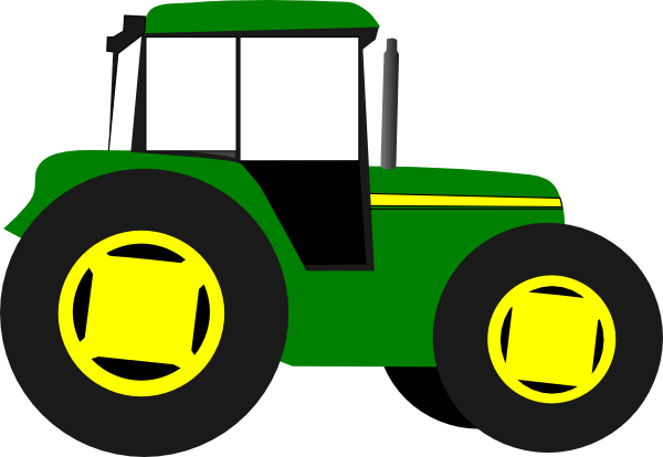 Tractor clipart yellow tractor #1