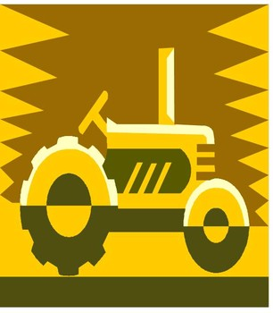Tractor clipart yellow tractor #2