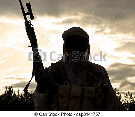 Militant clipart Of with Silhouette muslim muslim