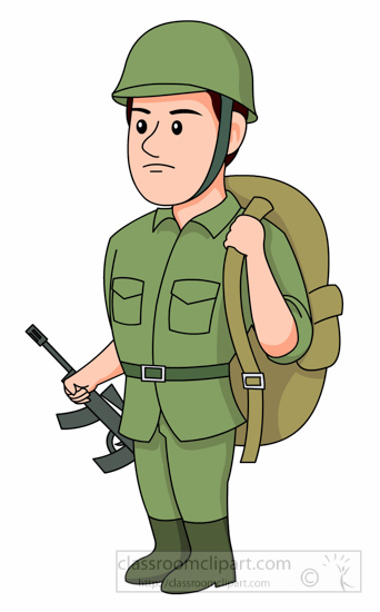 Soldier clipart shooting gun Illustrations Backpack With Pictures Free
