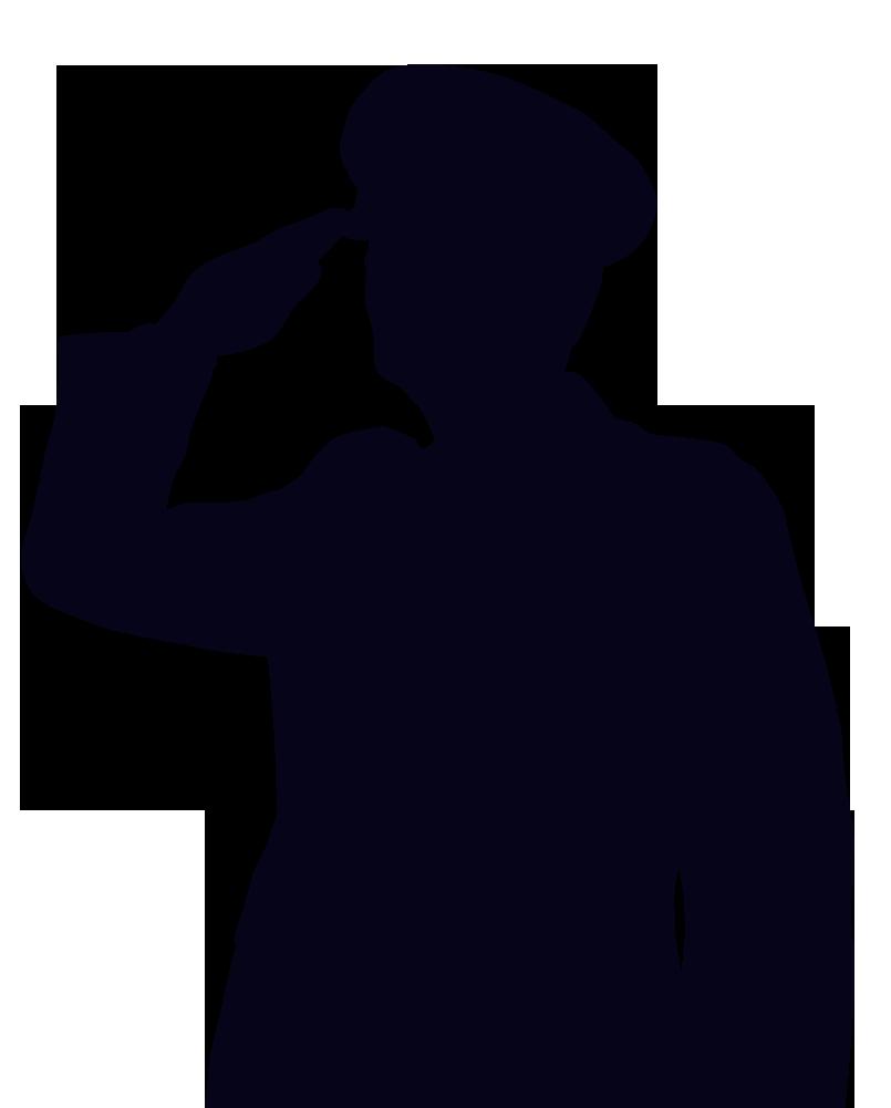 Soldier clipart salute Silhouette Clipart Woman clipart salute