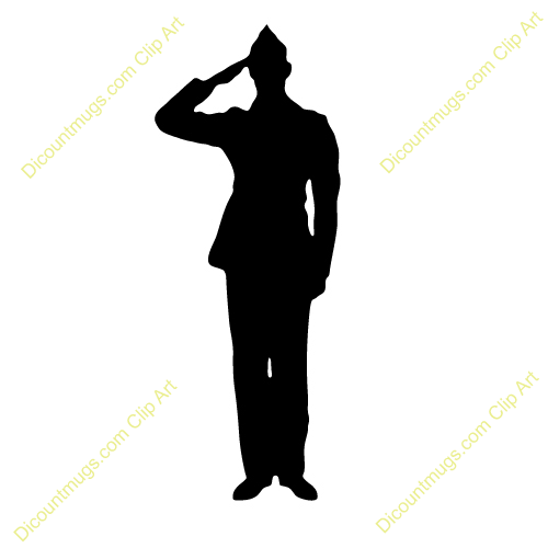 Soldier clipart salute Free silhuoette  13 army