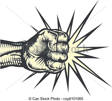 Fist clipart hitting Fist csp6101065 A Vector or
