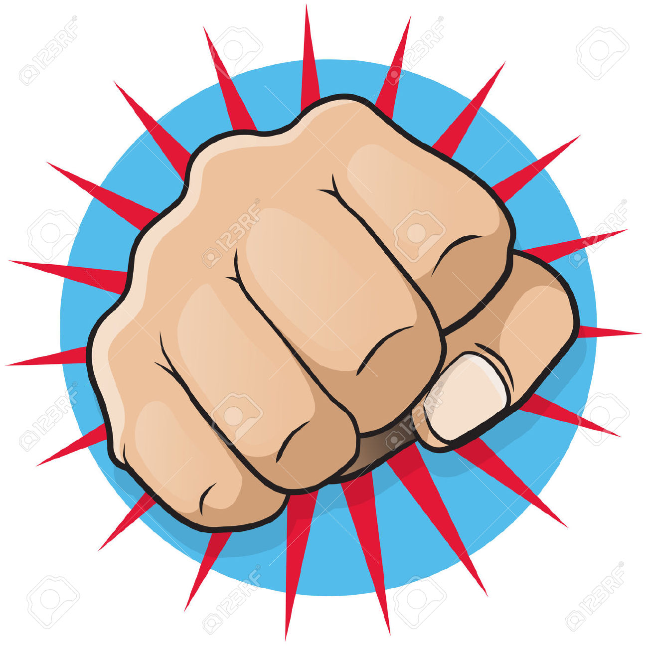 Comic clipart punch Punch Fist Clipart — Clipartwork