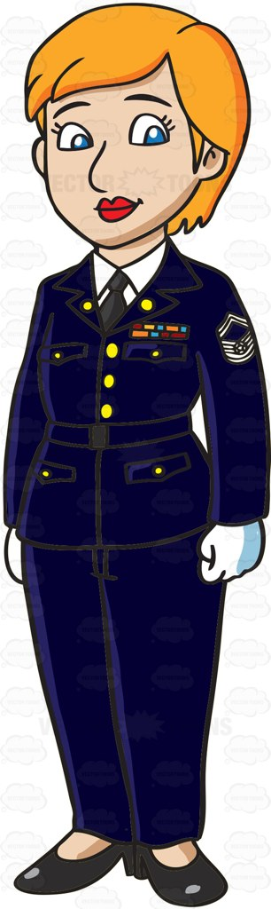 Soldiers clipart blue coat Female Army An Female Us