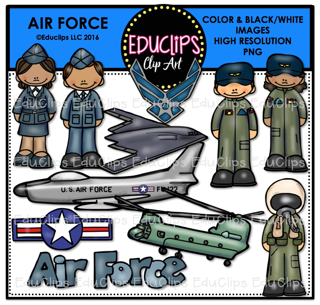 Military clipart air force Air (Color to loading and