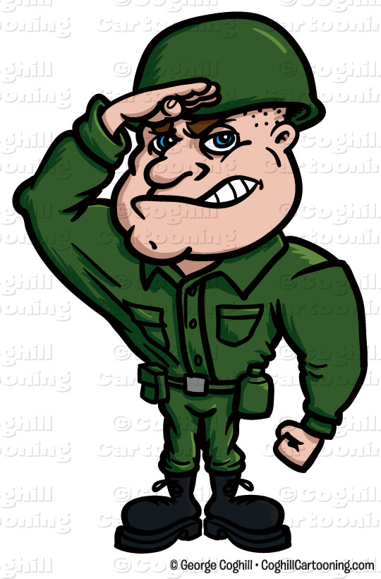 Army clipart salute #7