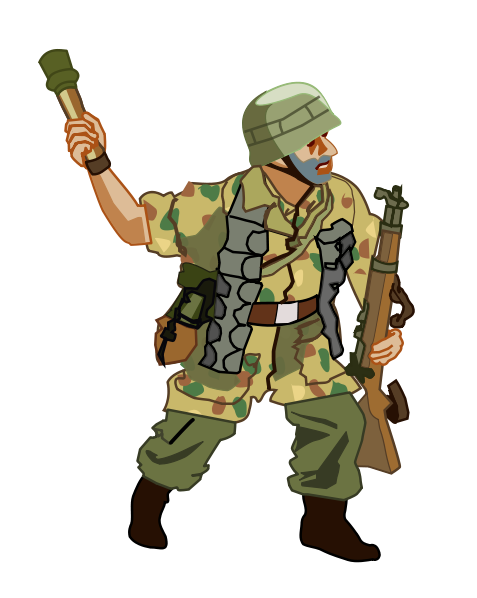 Army clipart german soldier #1