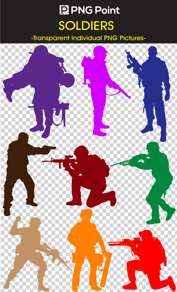Military clipart army guy Silhouette Images and Art Clip