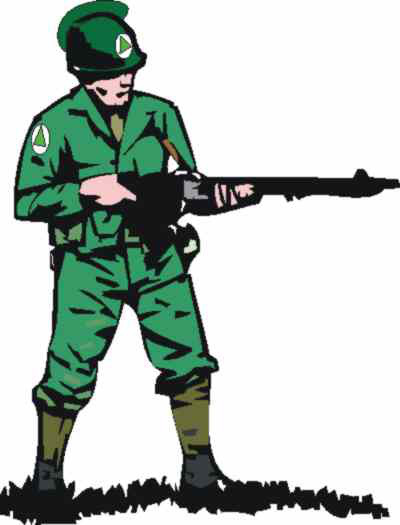 Military clipart army guy Land of colourful Man training