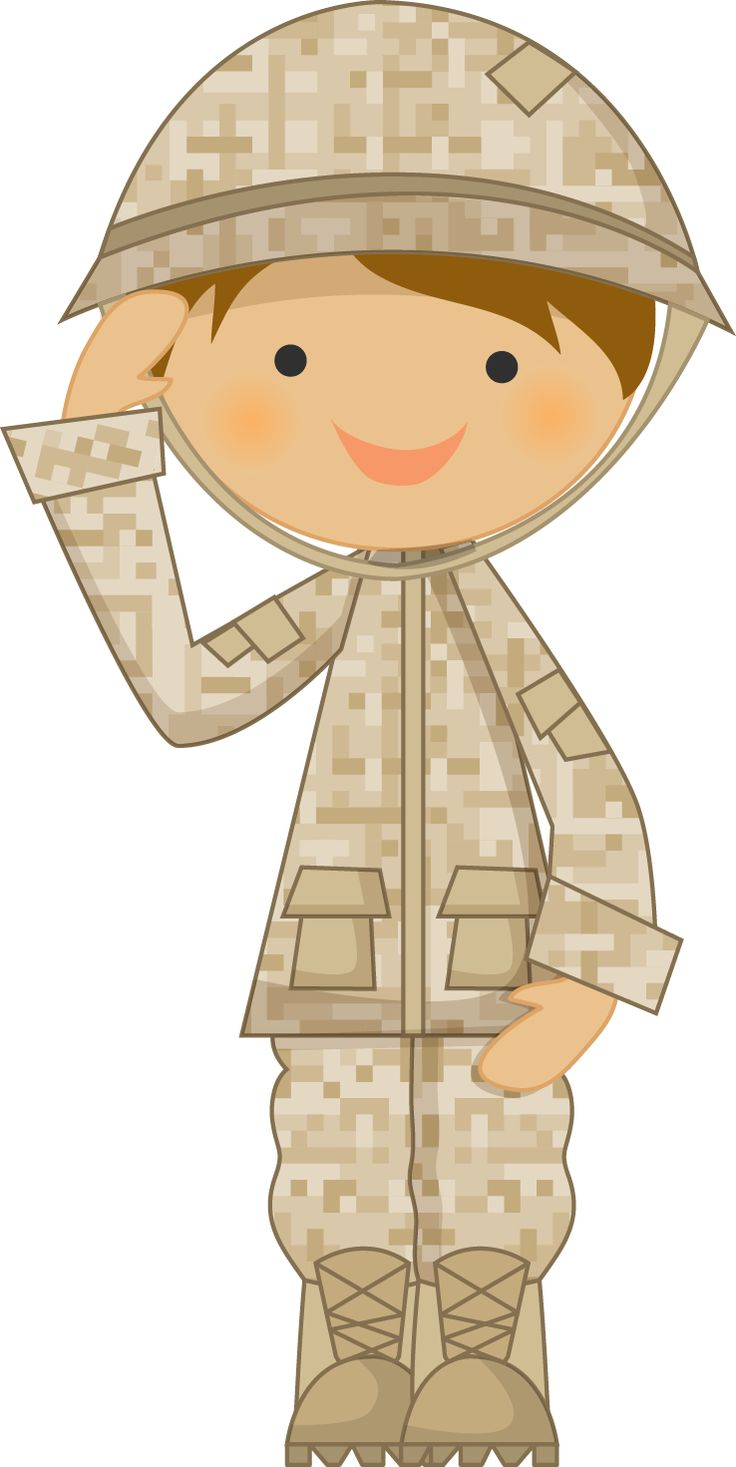 Soldier clipart kid Saluting by military Minus Pinterest