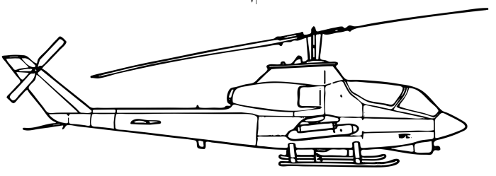 Black & White clipart helicopter #2 #2030 military cobra helicopter