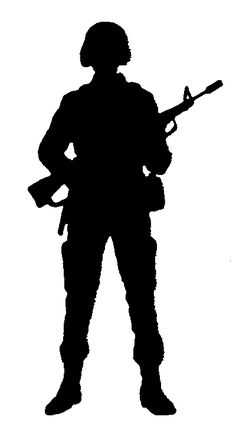 Soldiers clipart black and white Http://beanerywriters Pinterest Silhouettes  Soldier