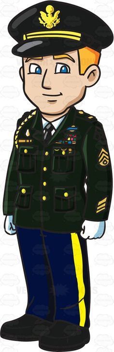Police clipart military officer #10