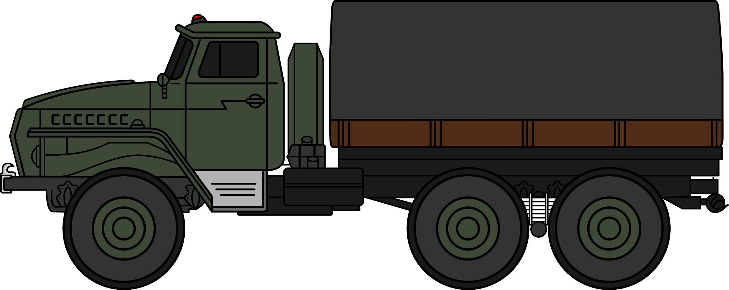 Military clipart army truck Ural military 4320 Clipart (coloured)