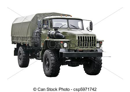 Military clipart army truck Military isolated truck of Photo
