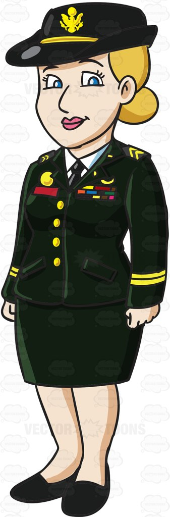 Army clipart army officer Service Uniform In An A
