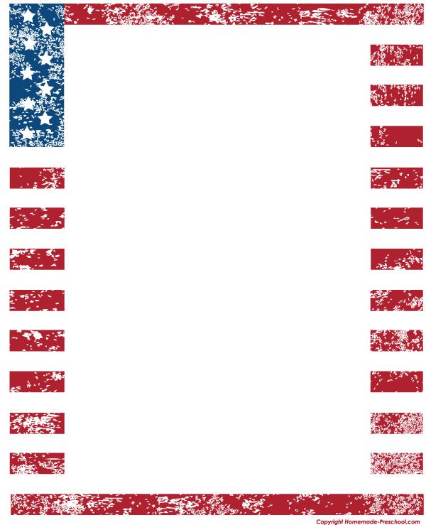 American Flag clipart border Art border Clipart Flags Free