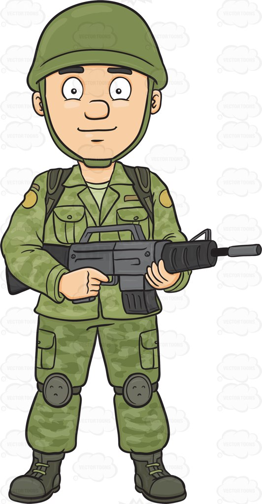 Soldiers clipart badass Cartoon ARmy Us Female art