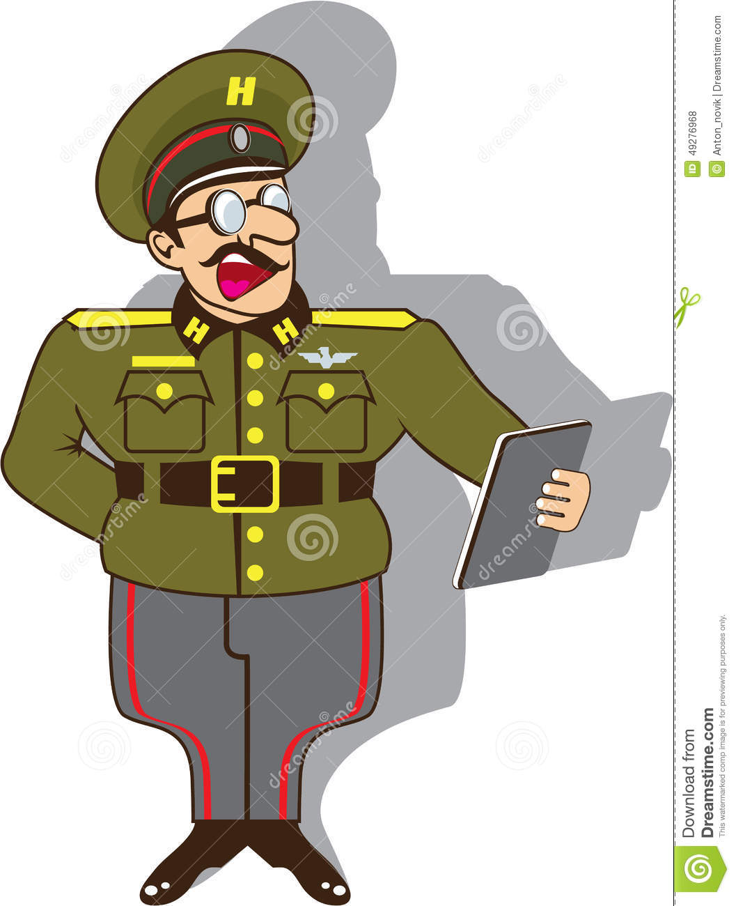 Soldier clipart army commander  Animated clipart cartoon officer