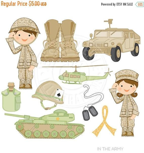 Military clipart cute Army for Digital Design Clipart