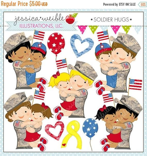 Military clipart cute Commercial Clipart Digital Cute or