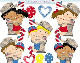 Military clipart cute Cute Etsy Commercial Clipart Personal
