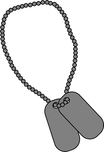Necklace clipart army #2