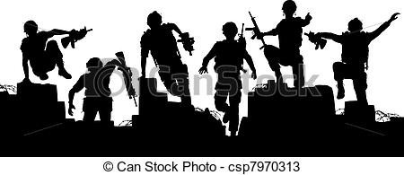 Soldiers clipart commando Clipart Soldiers Military Charge cliparts