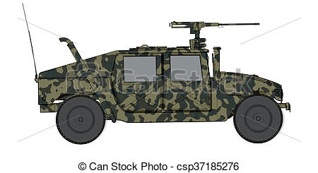 Army clipart hmmwv Render Stock side render humvee