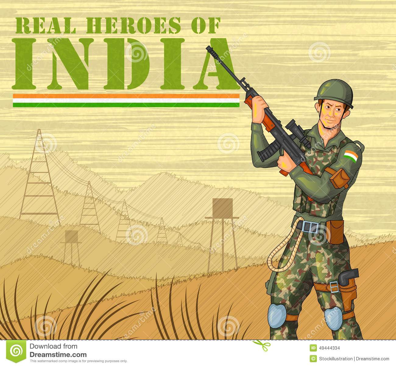 Soldier clipart indian soldier Of Showing Indian Victory Army
