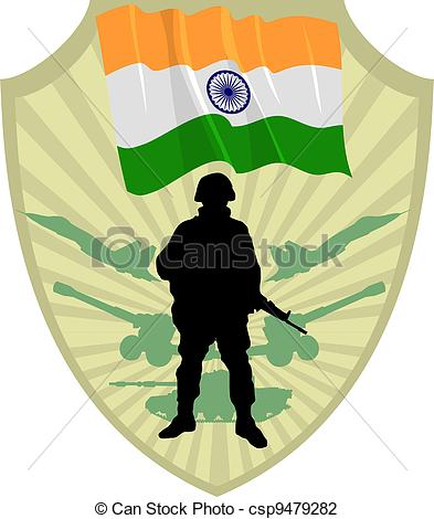 Soldier clipart indian soldier  Vector India Illustration Search