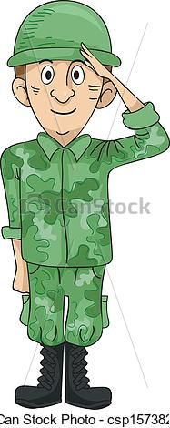 Soldier clipart salute Soldier Soldier of csp15738270 a