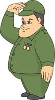 Army clipart salute #10