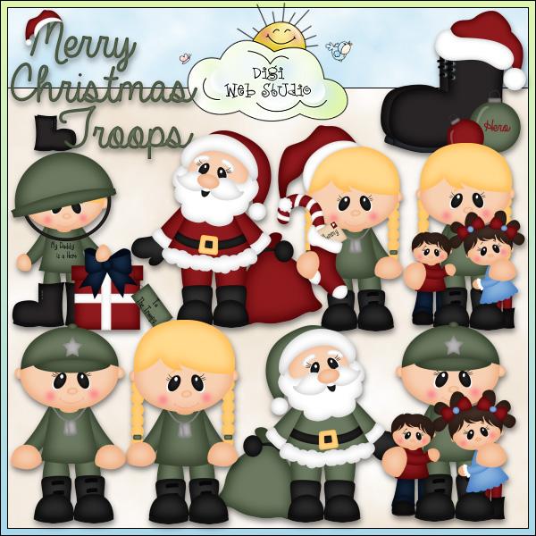 Army clipart christmas Web Art Christmas Clip Art