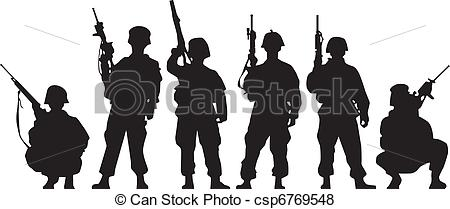 Military clipart shadow Art Soldier Art Clip Download