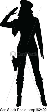 Military clipart shadow Of Saluting Silhouette  A