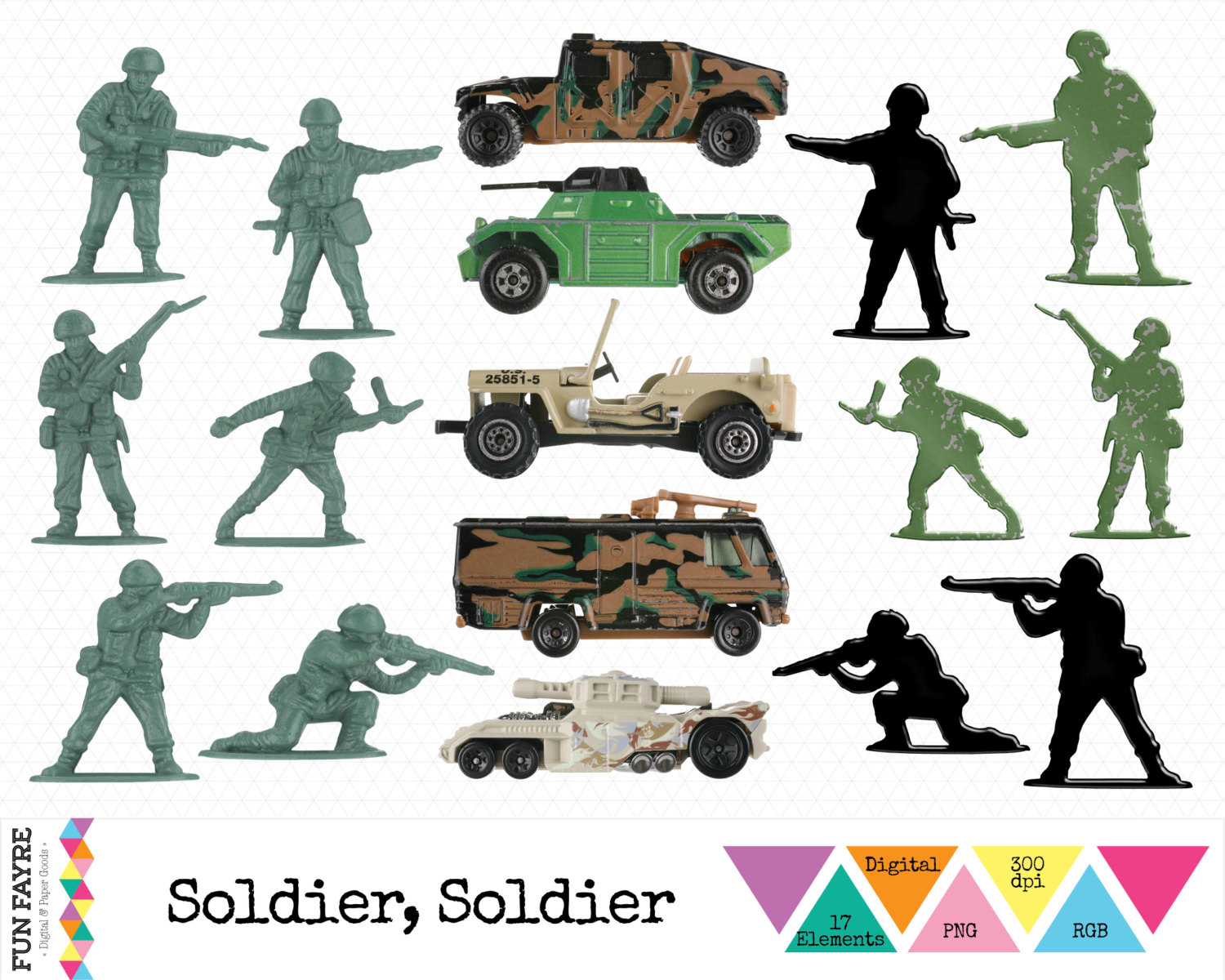 Army clipart army jeep #4