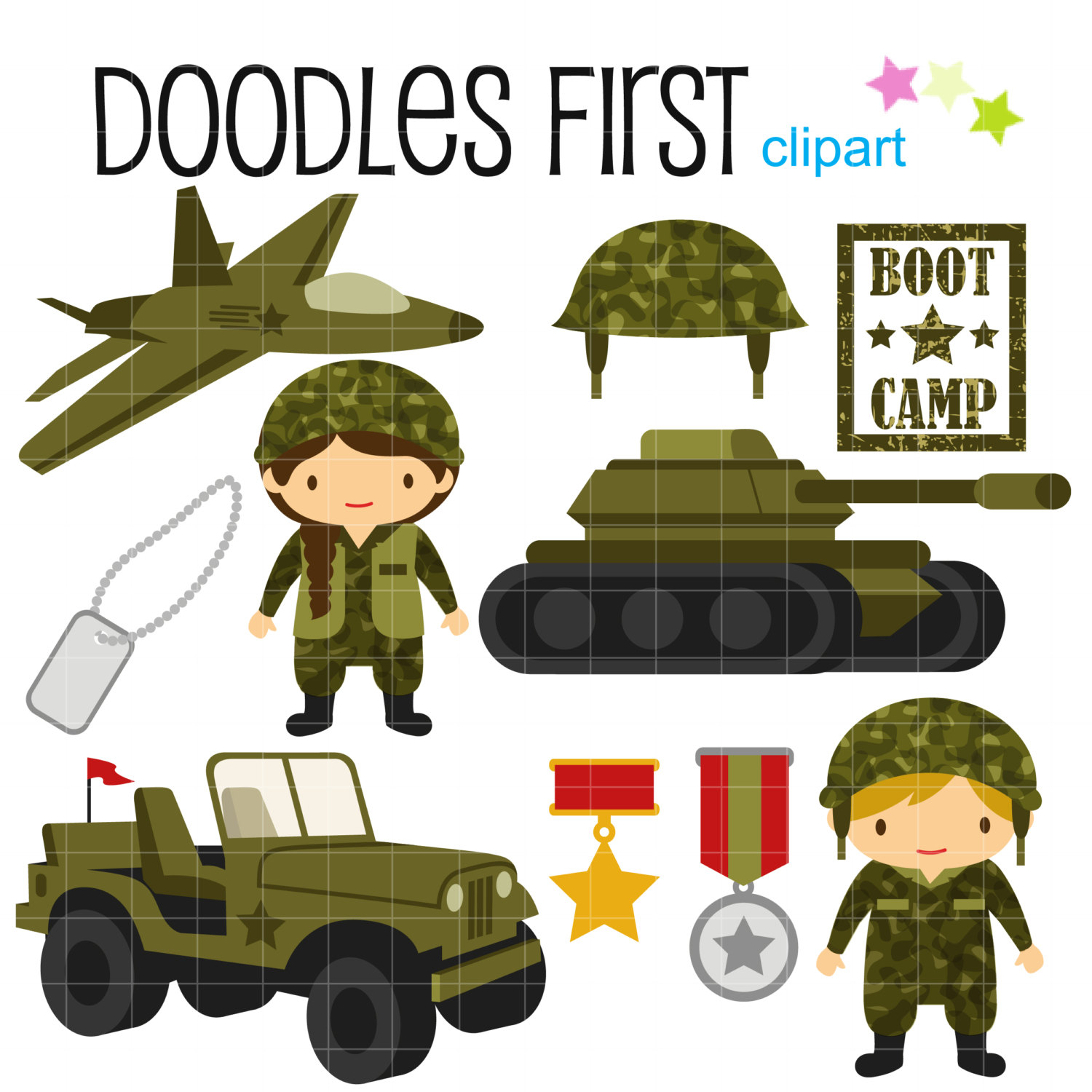 Soldier clipart cute Cute art Army Paper Etsy