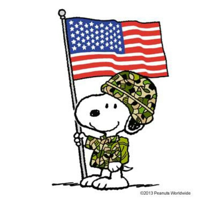 Military clipart veterans day Forces  Veterans Snoopy Armed