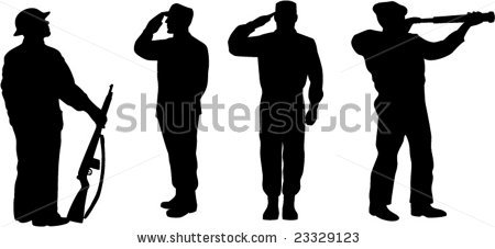 Military clipart ww1 soldier · Silhouette : vector Soldier