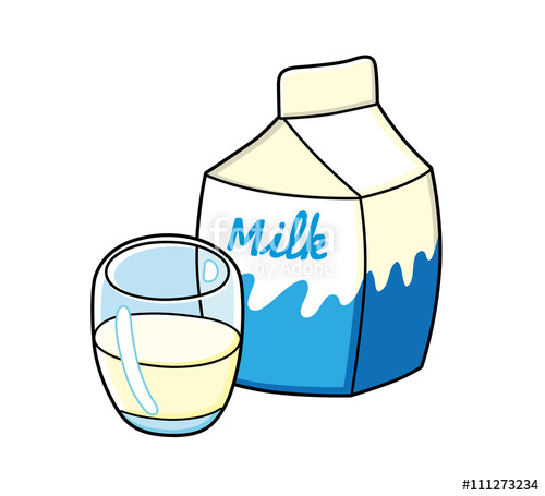 Carton image and and milk